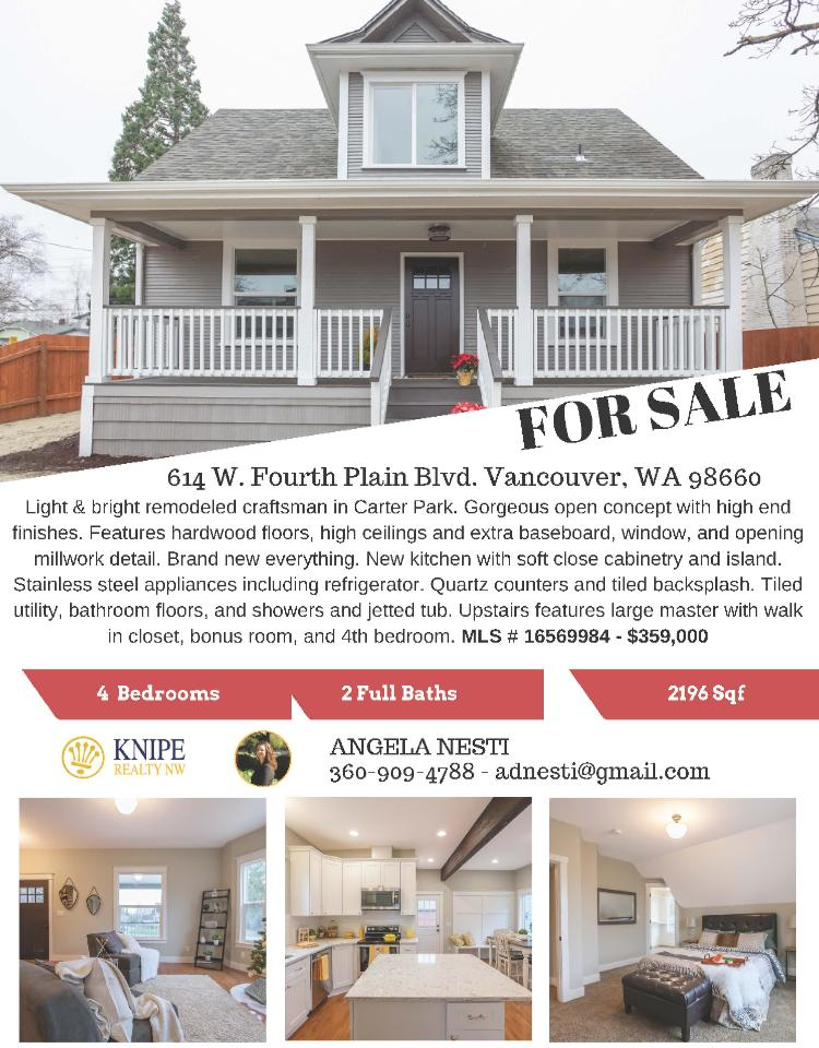 Real Estate For Sale At $359,000! Come And View This Four Bedroom, Two Bath